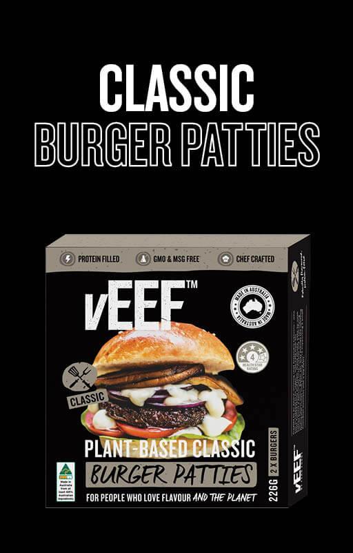 """Explore vEEF """"Classic"""" Burger Patties Product"""