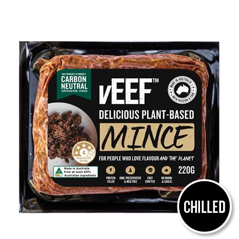 vEEF Chilled Mince Packaging Mockup Note
